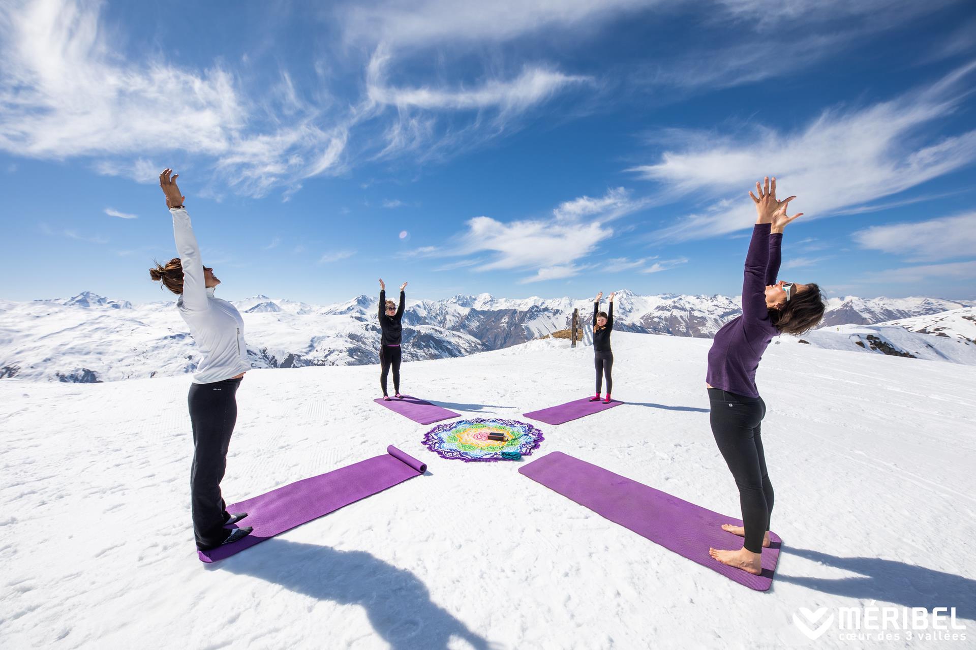 Yoga à la montagne,